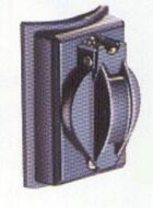 388BK 338BK (OLD#) POST OUTLET 120 VOLT 3-WIRE CONVENIENCE RECEPTACLE COMES IN BLACK FINISH QTY 1