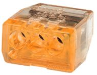 30-1033J 3 PORT ORANGE PUSH IN WIRE CONNECTOR QTY 250/1500