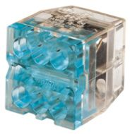 30-088J 6 PORT BLUE PUSH IN WIRE CONNECTOR QTY 100/1200 JAR