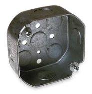 125 4 OCTAGON 1 1/2 DEEP BOX 1/2 KNOCKOUTS 15.5 CUBIC INCHES 0 LBS FAN LIMIT 50 LB FIXTURE LIMIT 54151 1/2 (T&B) QTY 1/50