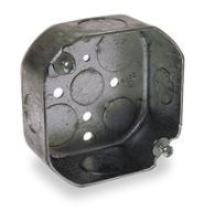 127 STEEL 4 OCTAGON 1 1/2 DEEP BOX 1/2 & 3/4 KNOCKOUTS 15.5 CUBIC INCHES 0 LBS FAN LIMIT 50 LB FIXTURE LIMIT 54151 1/2 & 3/4 (T&B) QTY 1/50