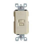 GFRBF-001 X7590I (OLD#) 20 AMP FEED THRU GFI FACELESS IVORY DEAD FRONT QTY 1