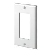 80401NW 1 GANG DECORA WALL PLATE WHITE QTY 1/20