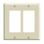 80409NI 2 GANG DECORA WALL PLATE IVORY QTY 1/25