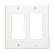 80409NW 2 GANG DECORA WALL PLATE WHITE QTY 1/25