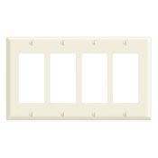 80412NW 4 GANG DECORA WALL PLATE WHITE QTY 1/10