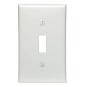 80701W 1 GANG SWITCH WALL PLATE WHITE QTY 1/20
