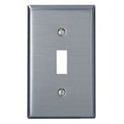 84001 1 GANG SWITCH WALL PLATE STAINLESS STEEL QTY 1/10