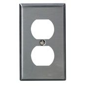 84003 1 GANG DUPLEX WALL PLATE STAINLESS STEEL QTY 1/20