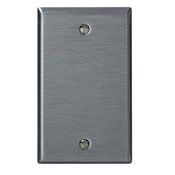 84014 1 GANG BLANK WALL PLATE STAINLESS STEEL QTY 1/10