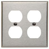 84016 2 GANG DUPLEX WALL PLATE STAINLESS STEEL QTY 1/10