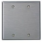 84025 2 GANG BLANK WALL PLATE STAINLESS STEEL QTY 1/10