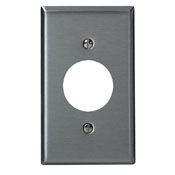8400440 1 GANG SINGLE HOLE DEVICE WALL PLATE STAINLESS STEEL QTY 1/10