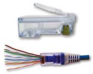100010B EZ RJ45 PLUG CONNECTOR END CAT6 QTY 1/100