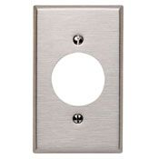 8402040 1 GANG LOCKING WALL PLATE STAINLESS STEEL QTY 1/10