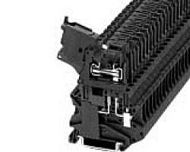 XBUT4FBEL250 6.2MM WIDE FUSE BLOCK W/LIGHT 5 X 20MM FUSES 110-250V 1/50