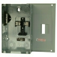 BR24L125SP 125 AMP MAIN LUGS 2 SPACES 4 CIRCUIT BREAKER LOADCENTER 1 PHASE 3 WIRE 120-240 VOLT INDOOR ENCLOSURE OPTIONAL GROUND BAR GBK5 IS NEEDED SERIES BR QTY 1