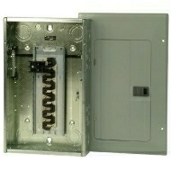 BR2020B100 100 AMP MAIN 20 SPACES 20 CIRCUIT BREAKER LOADCENTER 1 PHASE 3 WIRE 120-240 VOLT INDOOR ENCLOSURE QTY 1