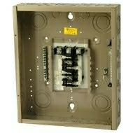 "CH12L3125B 125 AMP BOX AND INTERIOR WITH MAIN LUGS 120/240 VOLT 3 PHASE 4 WIRE 12 CIRCUIT/SPACES ENCLOSURE INDOOR 16.75"" HIGH X 14.31"" WIDE X 3.88"" DEEP USE CH8BS OR F COVER QTY 1"