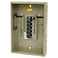 "CH20L125C 125 AMP BOX AND INTERIOR WITH MAIN LUGS 120/240 VOLT 1 PHASE 3 WIRE 20 CIRCUIT/SPACES ENCLOSURE INDOOR 27.00"" HIGH X 14.31"" WIDE X 3.88"" DEEP USE CH8CS OR F COVER QTY 1"