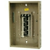 """CH24L3125C 125 AMP BOX AND INTERIOR WITH MAIN LUGS 120/208Y VOLT 3 PHASE 4 WIRE 24 CIRCUIT/SPACES ENCLOSURE INDOOR 27.00"""" HIGH X 14.31"""" WIDE X 3.88"""" DEEP USE CH8CS OR F COVER QTY 1"""