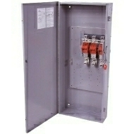 DG324URK 200 AMP SINGLE THROW GENERAL DUTY NON-FUSIBLE SAFTY DISCONNECT SWITCH 240 VOLT 3 POLE 3 WIRE NEMA 3R ENCLOSURE PAINTED GALVANIZED STEEL QTY 1
