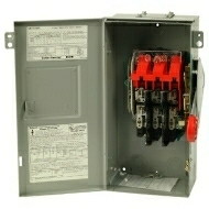 DH361NRK 30 AMP SINGLE THROW HEAVY DUTY FUSIBLE SAFTY DISCONNECT SWITCH 600 VOLT 3 POLE 4 WIRE FUSE TYPE CLASS H NEMA 3R ENCLOSURE PAINTED GALVANIZED STEEL QTY 1