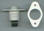 """RBO2-W OPEN LOOP 3/4"""" RECESSED DOME STYLE (PUSHBUTTON) TERMINALS WHITE QTY 1/10"""