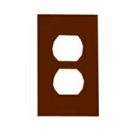80703 1 GANG DUPLEX WALL PLATE BROWN QTY 1/20