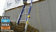 "D8224-2EQ 24' FIBERGLASS EXTENSION LADDER TYPE 1A 300LB LOAD CAPACITY EQUELIZER ADJUSTS IN 3/8"" INCREMENTS UP TO 8 1/4"" QTY 1"