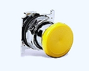 10250T124 PUSHBUTTON OPERATOR 30.5 MM NON-ILLUMINATED MOMENTARY CONTACT OPERATION CAP YELLOW MUSHROOM NEMA 4 4X 13 QTY 1