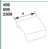 2306 CLIP COVER COUPLING NON-METALLIC PVC SERIES 2300 FINISH IVORY QTY 1/5