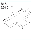 2315 TEE RACEWAY FITTING NON-METALLIC PVC BASE AND COVER SERIES 2300 FINISH IVORY QTY 1/5