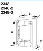 2348 OUTLET DEVICE BOX 1 GANG DEEP NON-METALLIC PVC SERIES 400 800 2300 FINISH IVORY QTY 1/5