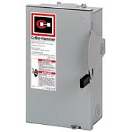 DG222URB 60 AMP SINGLE THROW GENERAL DUTY NON-FUSIBLE SAFTY DISCONNECT SWITCH 240 VOLT 2 POLE 2 WIRE NEMA 3R ENCLOSURE PAINTED GALVANIZED STEEL QTY 1